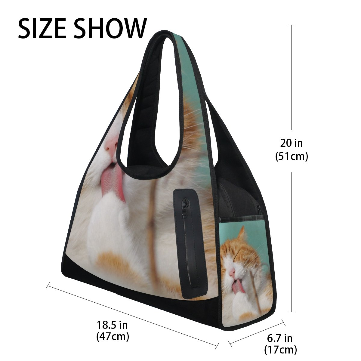 AHOMY Sports Gym Bag Cat Lovely Duffel Bag Travel Shoulder Bag