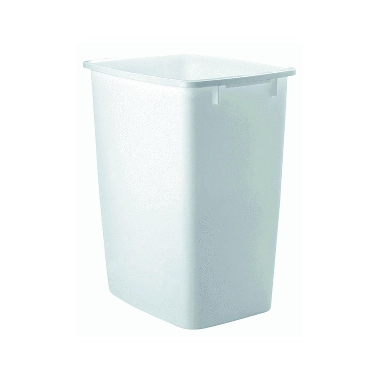 Amazon.com: RHP2806TPWHI Open-Top Wastebasket, Rectangular, Plastic ...