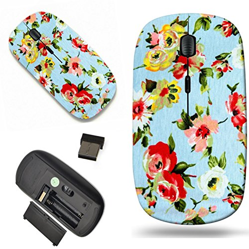 Chintz Flowers (Luxlady Wireless Mouse Travel 2.4G Wireless Mice with USB Receiver, 1000 DPI for notebook, pc, laptop, macdesign IMAGE ID: 29709943 Modern stylish texture The flower cotton chintz)