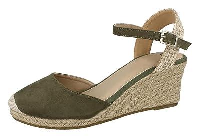 2ce4eeb7599 Lora Dora Womens Hessian Wedge Sandals