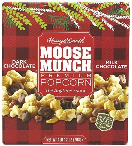Harry & David Moose Munch Gourmet Popcorn, Milk Chocolate / Dark Chocolate, 1 Pound 12 Ounce