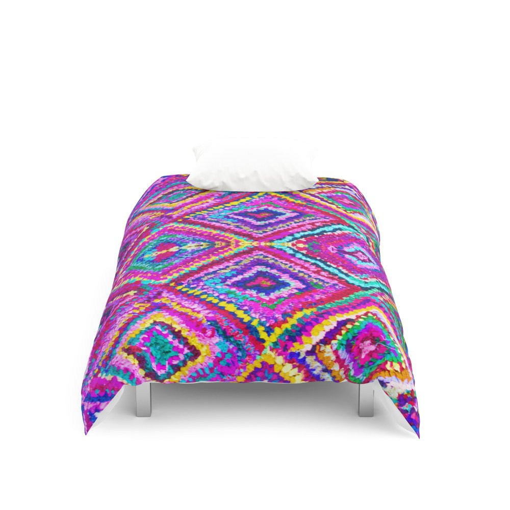 Society6 A trip to India in Cerulean Blue and Violet Duvet Covers Twin XL: 68'' x 92''