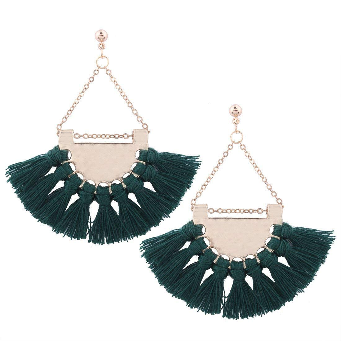 Boomly Womens Girls Elegant Bohemia Earring With Tassel Fashion Sector Earring Exaggeration Popular Beach Earrings Jewelry Accessories Boomly_0068