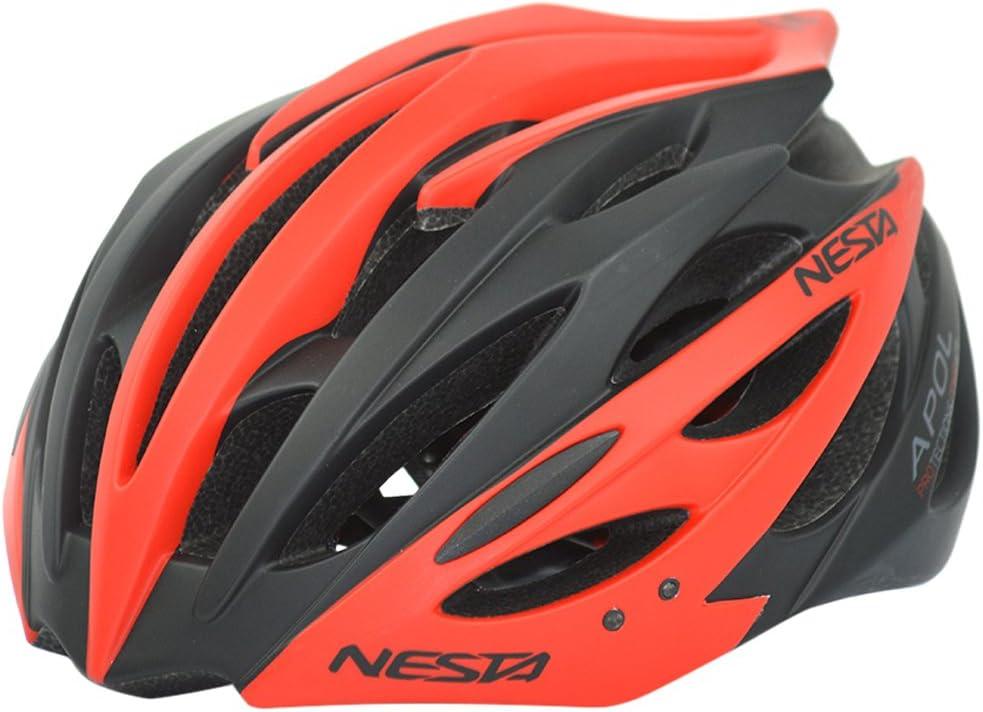 S//M Nesta Apol Casco de Ciclismo Unisex Adulto Negro//Rojo