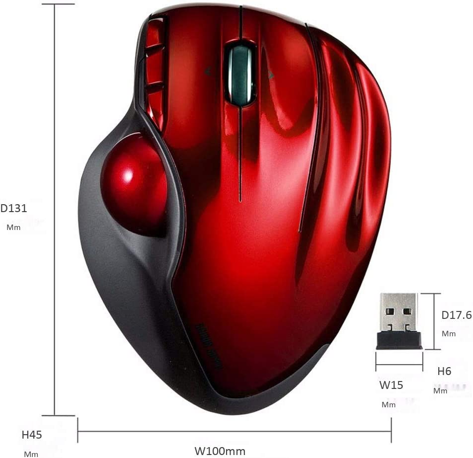 Gaming Mouse DHINGM Wireless Trackball Mouse Office Drawing Automatic Adjustment Mouse Portable Mouse