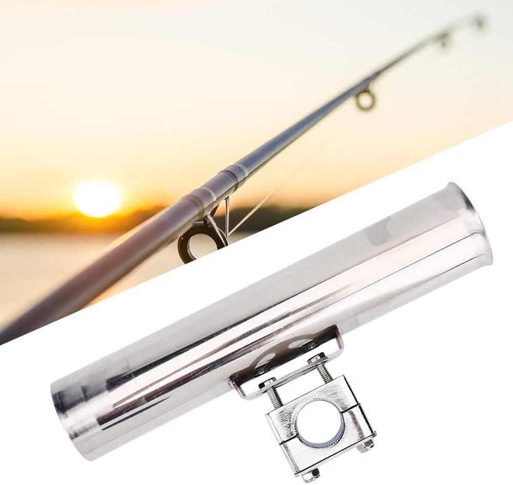 316 Stainless Steel Fishing Rod Rack Stainless Steel Rail Mount Pole Bracket Support Clamp Boat Accessories Qiilu Boat Fishing Pole Holder