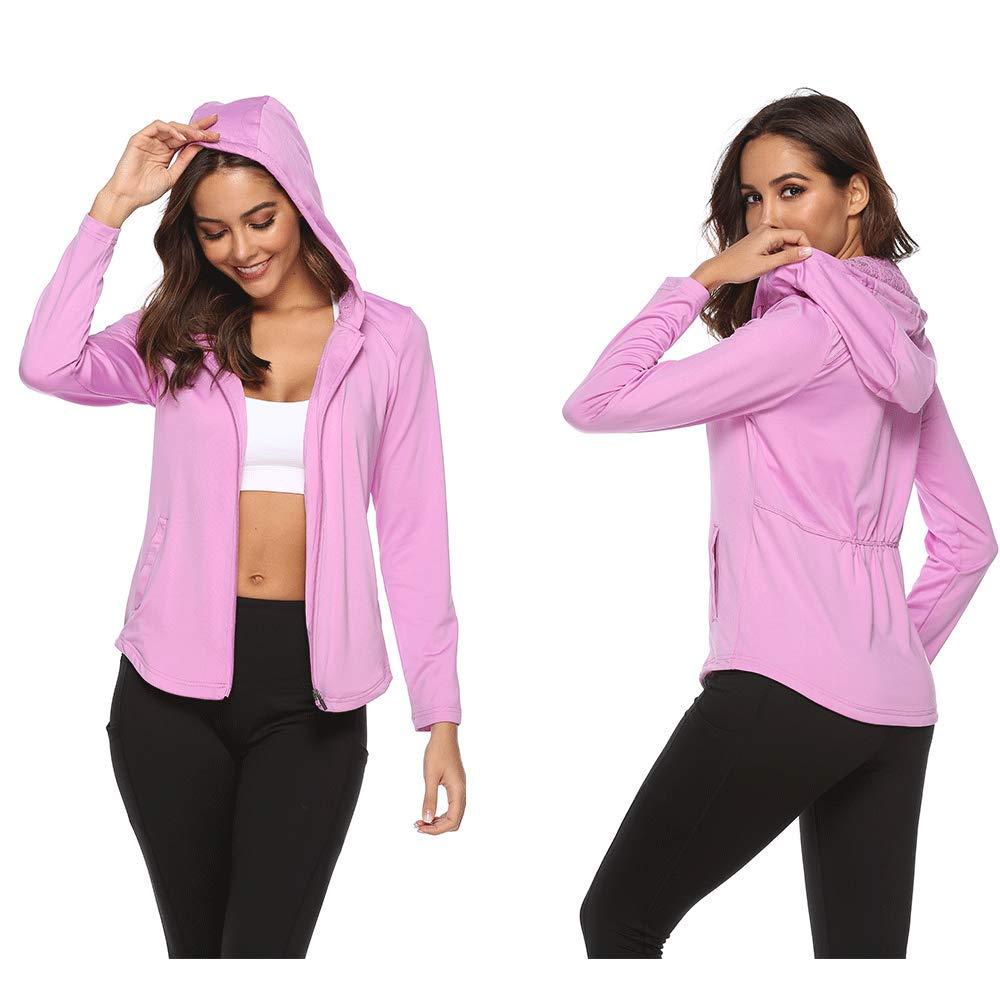 SOUTEAM Womens Lightweight Athletic Hoodies Zip Workout Running Track Jacket
