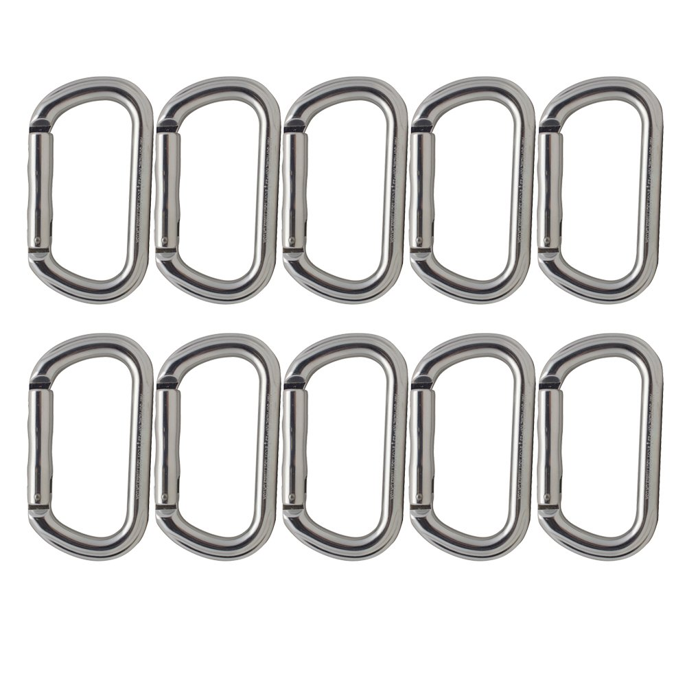 Fusion Climb Supreme II Aluminum Oval-Shape Carabiner 10-Pack