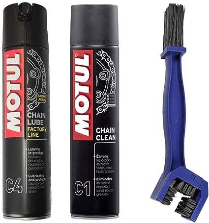 Motul - Kit de limpiador lubricante para cadena C4 400 ml + ...