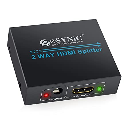 Hdmi Splitter 2 Way Hdmi Splitter 1 In 2 Out 1080p Full Amazon Co