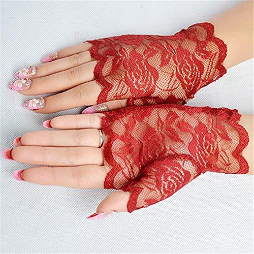 Floral Lace Fingerless Gloves Elegant Sexy Gloves For Halloween Fancy Dresses Hen Night Party Wedding gnrjgs