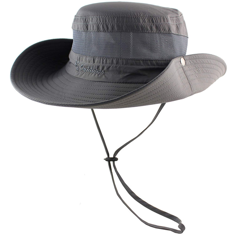 Sun Hat Bucket Summer Men Women Fishing Hat Sun UV Protection Long Large Wide Brim Hiking Outdoor Beach Cap