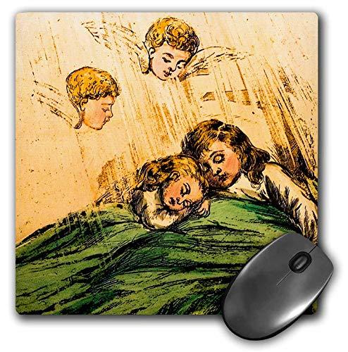 3dRose Scenes from The Past Magic Lantern - Vintage Children Sleeping Celestial Cherubs Watching Magic Lantern - Mousepad (mp_245998_1)