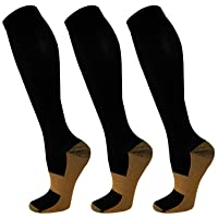 Compression Socks for Women & Men 3 Pairs 20-30 mmHg is Best Graduated Athletic,...