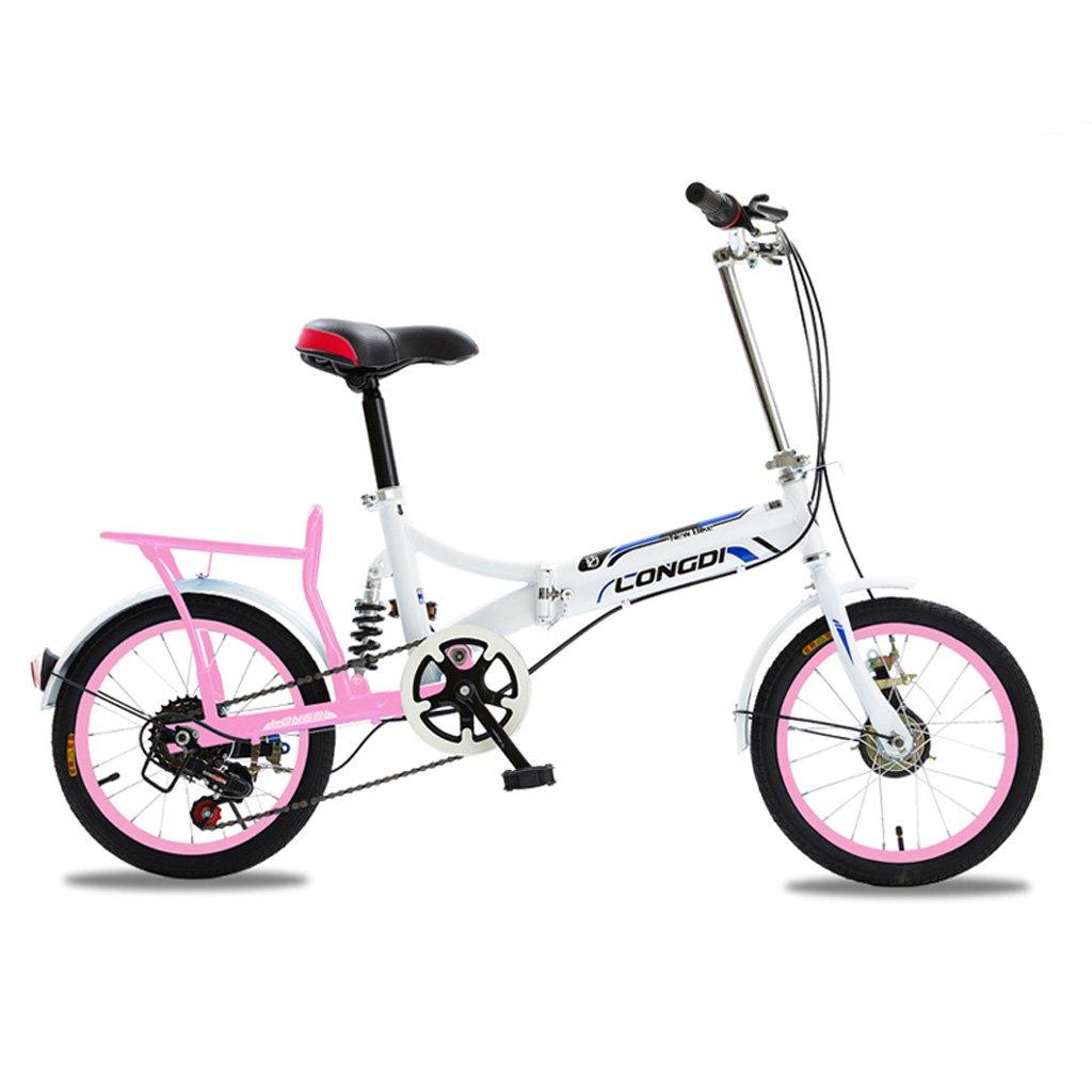 折りたたみ自転車大人男性と女性20インチポータブル自転車高炭素鋼自転車、白青/黒白/赤/白/白緑 ( Color : White ) B07CZ9DFCP