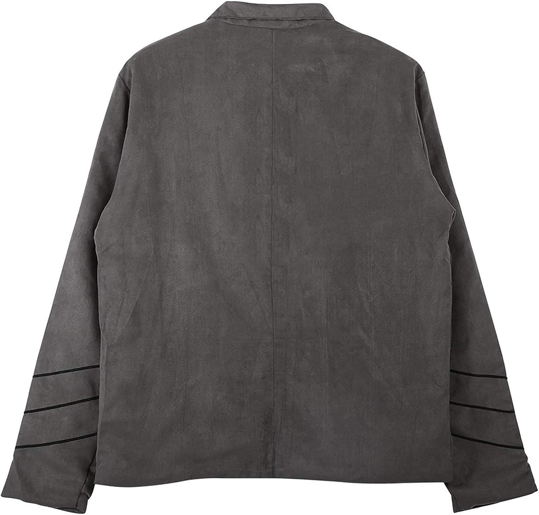 Vestes Hommes Retro Manteau Steampunk Tunique Rock Frock Uniforme Noir