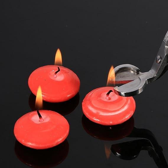 3Pcs sacar la herramienta de la vela de acero inoxidable tijeras de la vela Llama de llama Wick largo mango Snuffer Bell en forma extinguir velas conjunto ...