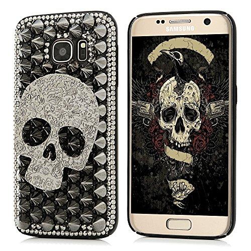 S7 Case,Samsung Galaxy S7 Case – Mavis's Diary Luxury 3D Handmade Bling Crystal Shiny Sparkle Glitter Diamonds Rhinestone Design Hard Black PC Cover w…