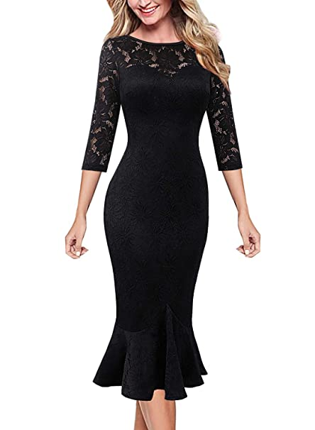 Amazon.com: VFSHOW - Vestido de media pantorrilla para mujer ...