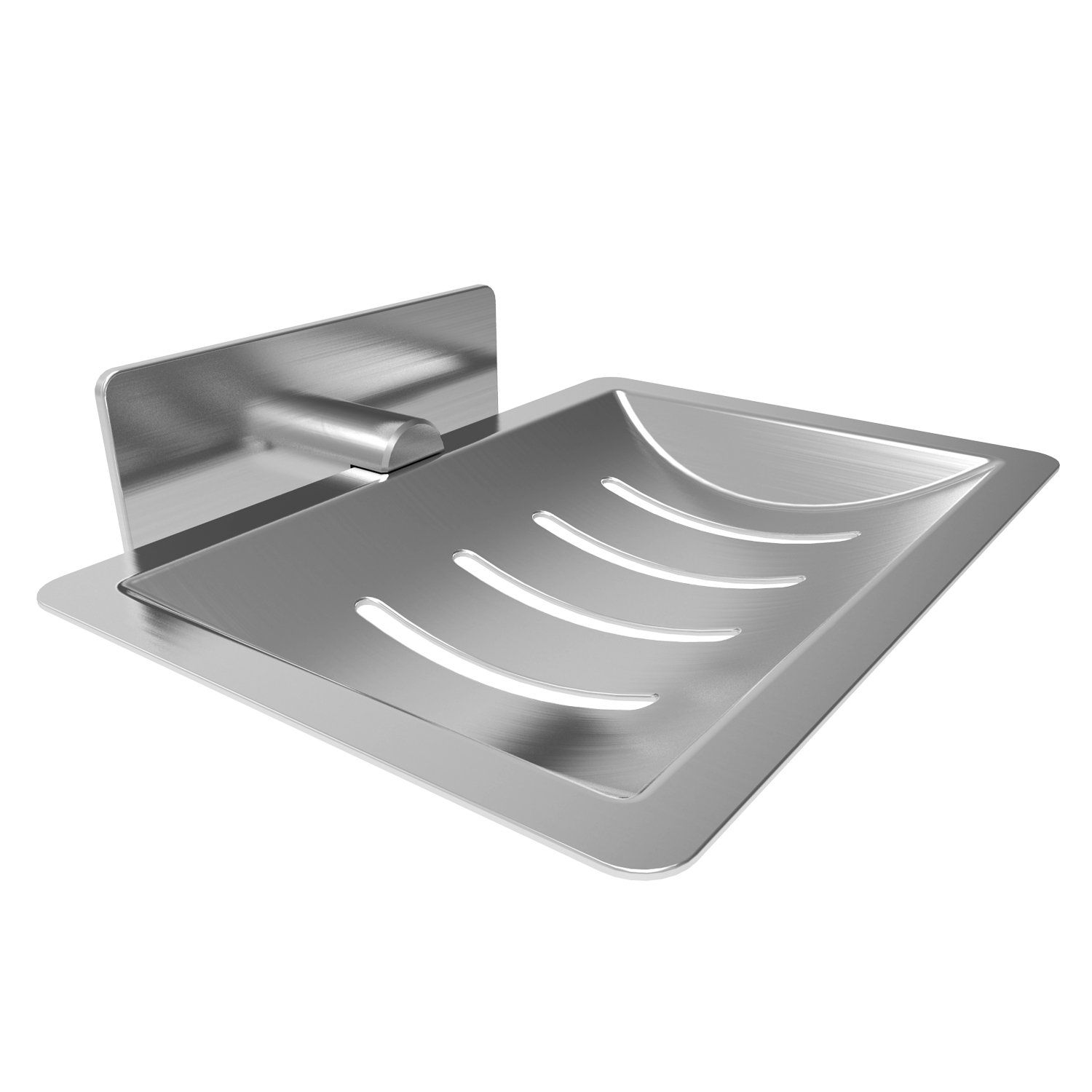 Soap Dish E-Ling Adhesive Soap Holder Brushed Soap Dish Holder for Bathroom/Kitchen /Tile /Shower Wall Mounted