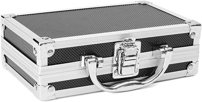 FUVOYA Caja de Aluminio Universal,Caja de Herramientas de Aluminio pequeña con Material de Espuma Protectora Size 180 * 110 * 55mm: Amazon.es: Bricolaje y herramientas