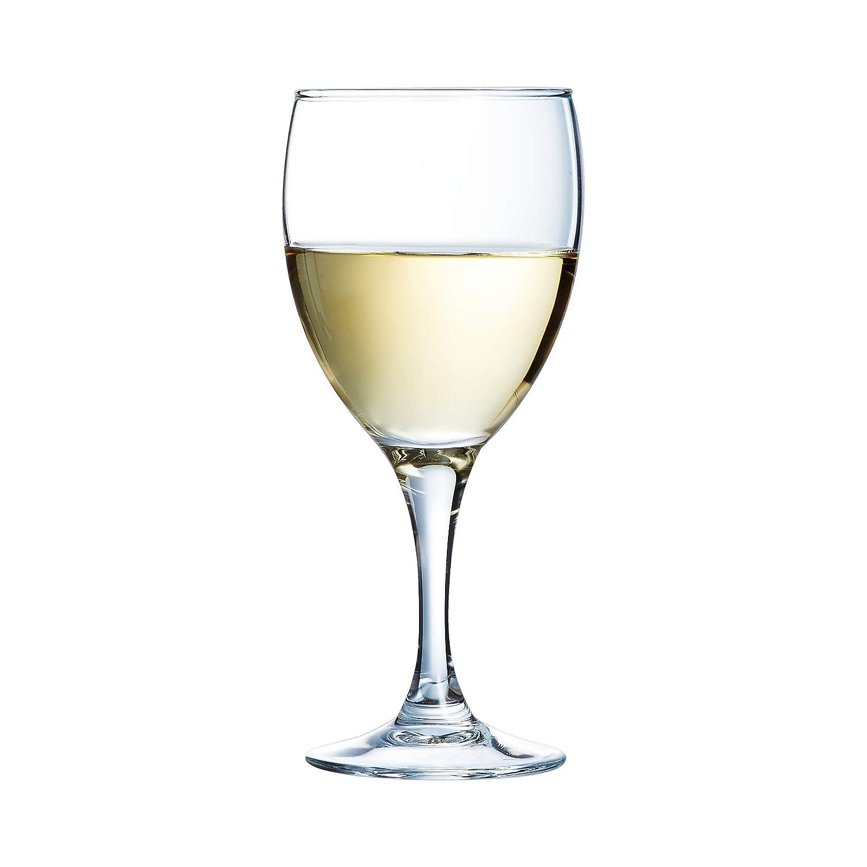 senza contrassegno di riempimento 12 Bicchiere Arcoroc Elegance Bicchiere di vino bianco 190ml