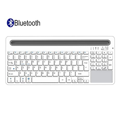 Alitoo Bluetooth Keyboard,Wireless Keyboard with Touchpad and Numeric  Keypad,Portable Rechargeable Full Size Keyboard,Compatibile with iPad