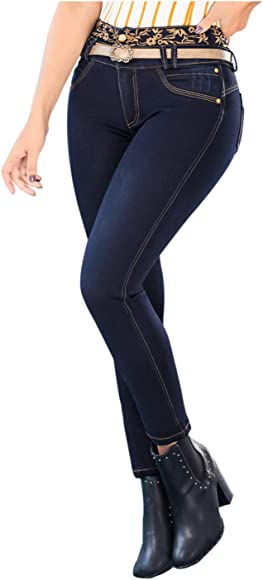 LT.ROSE Draxy 1369 High Rise Skinny Colombian Blue Jeans for ...