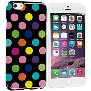 fashion case Black / Colorful TPU Polka Dot Rubber Design Skin Case Cover for Apple iphone 6 4.7