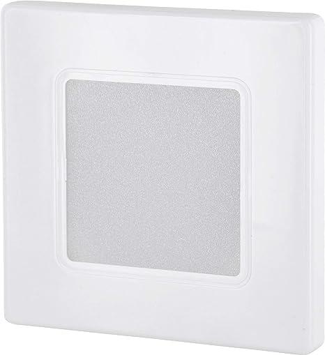 Foco LED empotrable para pared (230 V, cuadrado, para caja de interruptores de 60 mm, transformador LED integrado, luz blanca cálida, 3000 K): Amazon.es: Iluminación