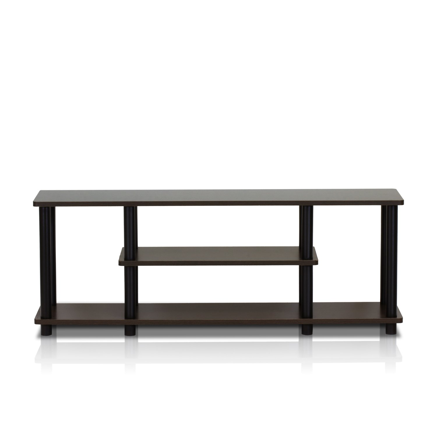 Tv Stand Low Profile Small Entertainment Center Turn N Tube 3 Tier
