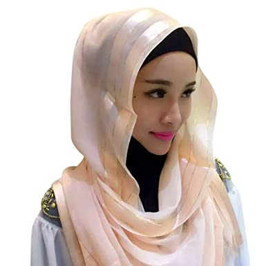 c417b21a2ddb6 Hougood Hijab Scarf Muslim Headscarf Hijabs Cap for Women Cotton Solid  Color Hijabs Scarves Cape Shawl Ladies Wrap Hijab Arabia Islam Turban Hijab  ...