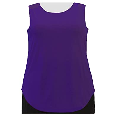 3aeb3f57b9c33 A Personal Touch Women s Plus Size Purple Round Scoop Neck Knit Tank Top -  0X