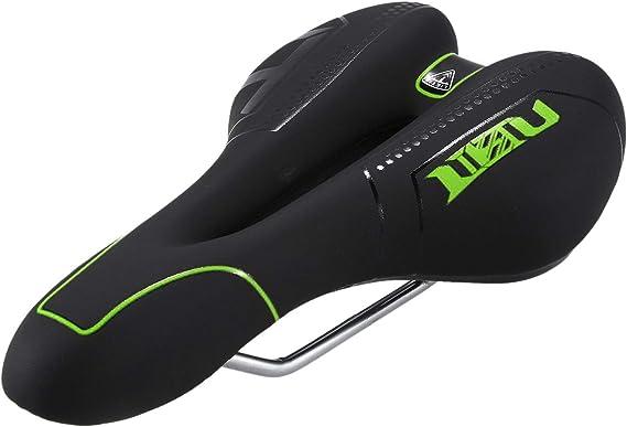 RETYLY Ciclismo MTB Bicicleta Silla Cubierta Comodo Bicicleta Silla Cojin 5D Transpirable Suave Cojin Negro