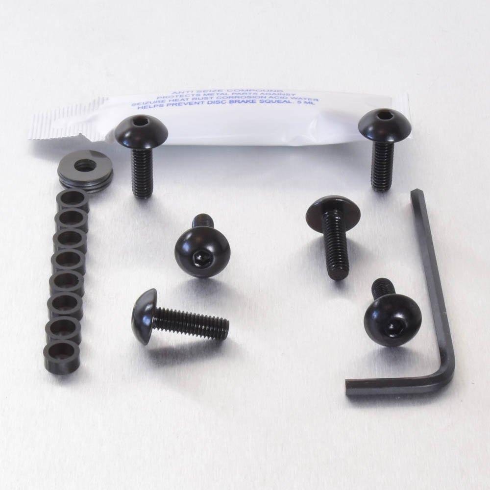 Kit visserie car/Ã/©nage en aluminium TDM850 96-01 Noir
