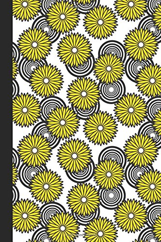 Sketchbook: Spirals and Flowers (Yellow) 6x9 - BLANK JOURNAL NO LINES - unlined, unruled pages (Spirals & Swirls Sketchbook Series)