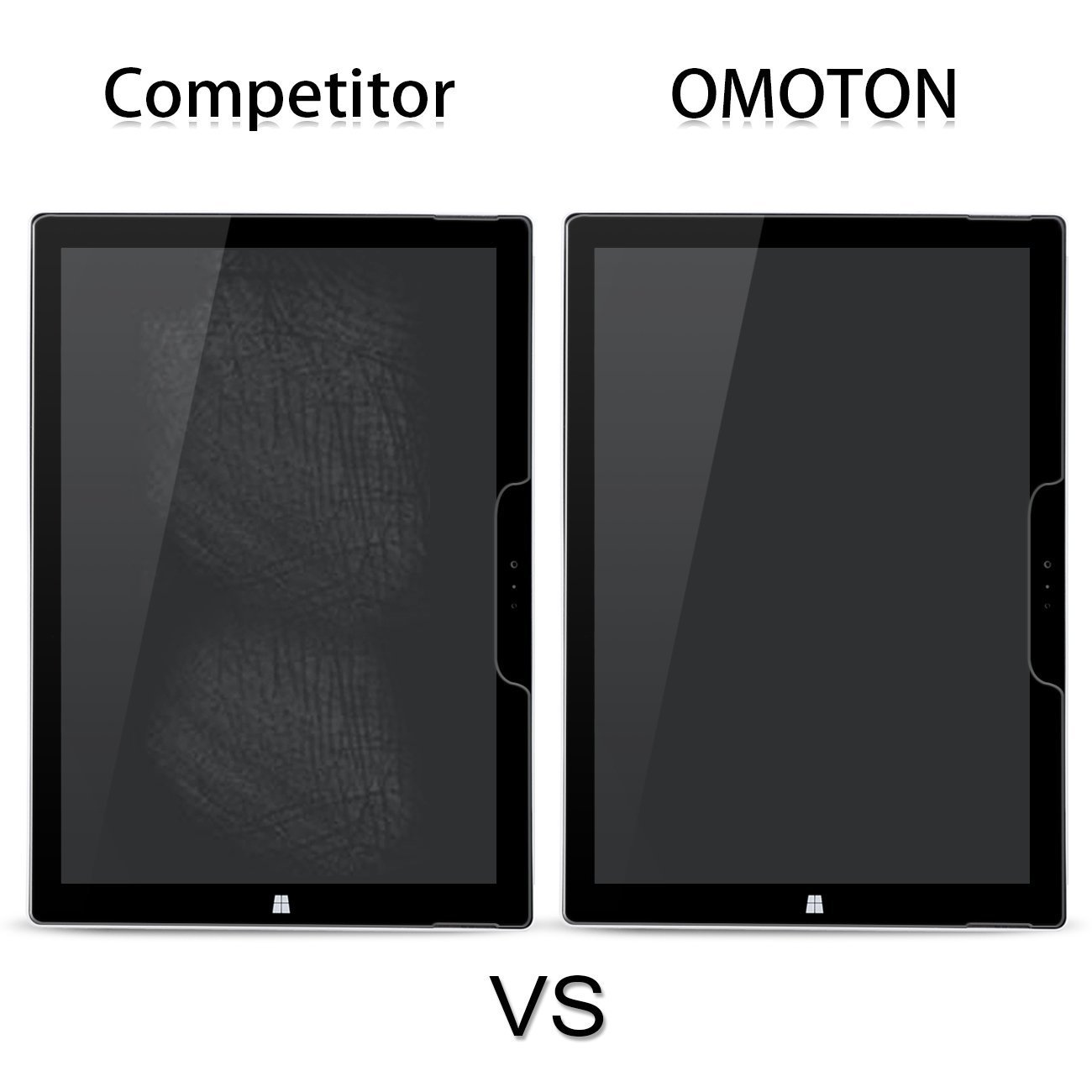 [2-Pack] New Surface Pro 2017/Surface Pro 4 Screen Protector - OMOTON Tempered Glass Screen Protector with [High Responsivity] [Scratch Resistant] [Bubble Free] [High Definition] by OMOTON (Image #6)
