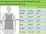 Neleus Men's 3 Pack Athletic Compression Under Base Layer Sport Tank Top,01,Black,Grey,Red,XS,EUR S