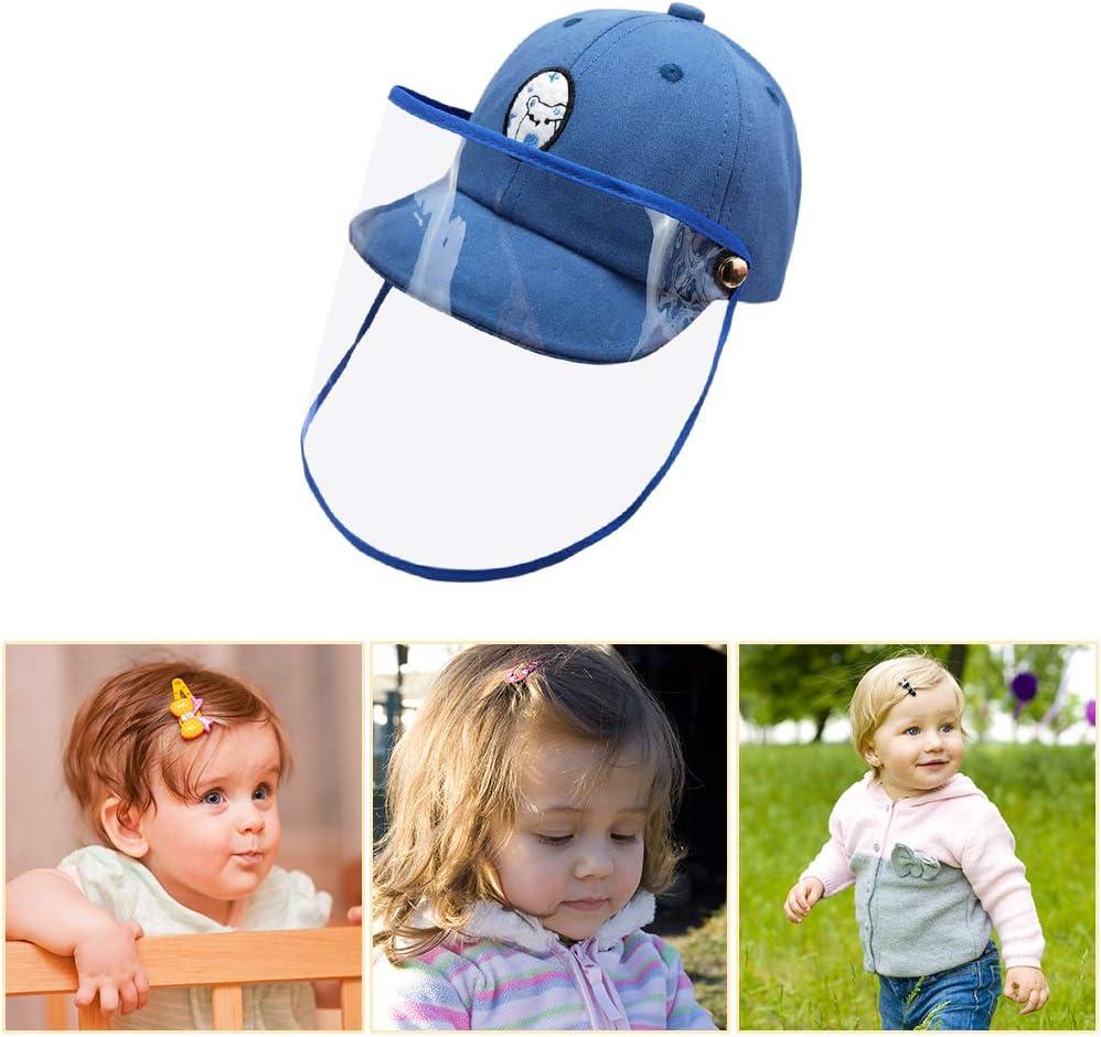 Domybest Chapeau de Protection Anti-crachats B/éb/é Casquette de Baseball Anti-bu/ée Anti-salive Coupe-Vent Anti-poussi/ère Chapeau de Soleil avec Visi/ère Transparente Amovible pour Enfants