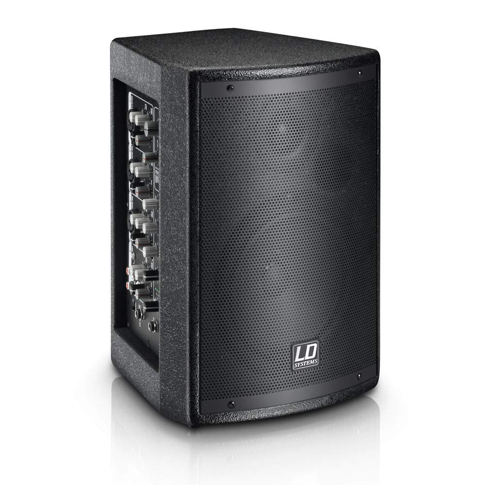 LD Systems Stinger Mix 6 AG2 Powered 2-Way Loudspeaker w/ 4-Channel Mixer (LDS MIX6AG2) Musical Distributors Group