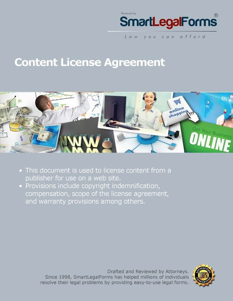 Content License Agreement [Instant Access] by SmartLegalForms, Inc.