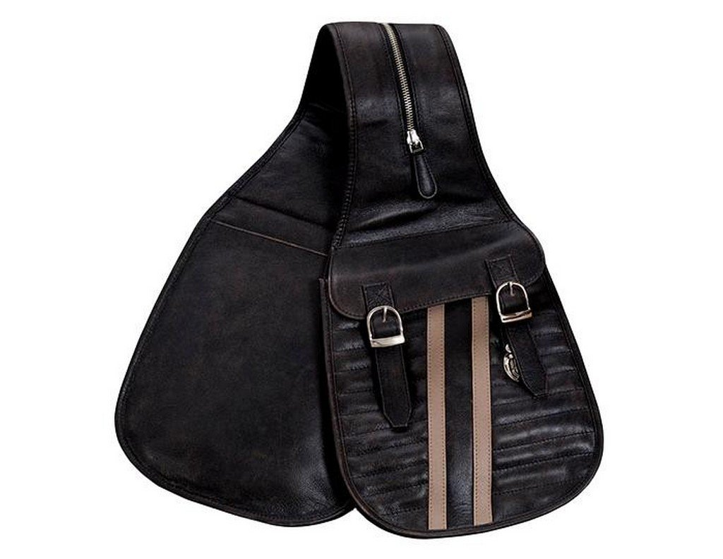 Scully Riding Gear/Track Saddle Bag (Black)