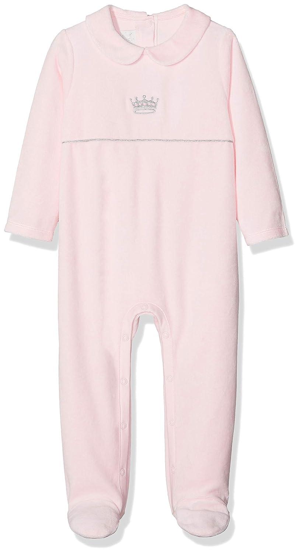 Rachel Riley Baby Girls Princess Embroidered Velour Babygro Bodysuit