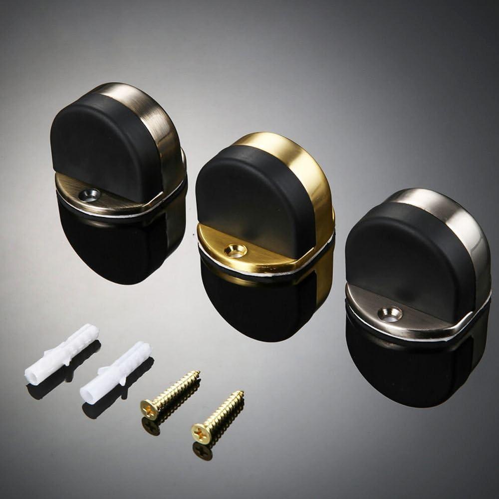 Zhi Jin 1Pc Invisible Drilling//Adhesive Door Stopper Floor Mounted Doorstop with Rubber Bumper Bronze