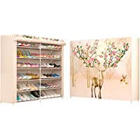 Shoe cabinet storage large capacity home furniture DIY simple 12 grid women boots shoe rack (Moose)