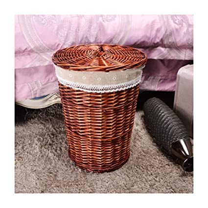 Amazon Com Rattan Storage Basket Wicker Rattan Hamper Hot Pot Shop