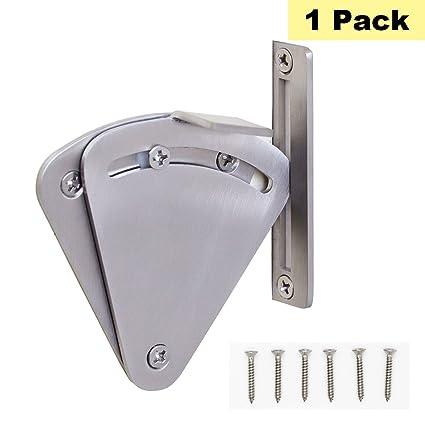 Sliver Barn Door Lock Stainless Steel Sliding Door Lock Brushed Nickel    Peaha MS01 Pocket Door