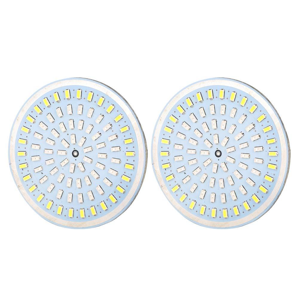 Pasamer 2 UNIDS 2 Pulgadas Bullet LED Luces de se/ñal de Giro Inserci/ón Aptos paraHarleys Motocicleta Amarillo Blanco