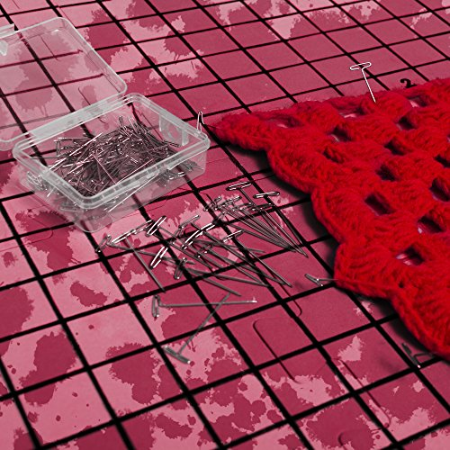 Blocking Mats for Knitting | Extra Thick - with Grids Guaranteed to Align - Includes 100 Stainless Steel T-Pins and 60-Inch Measure Tape... by Humble Crafter (Image #5)