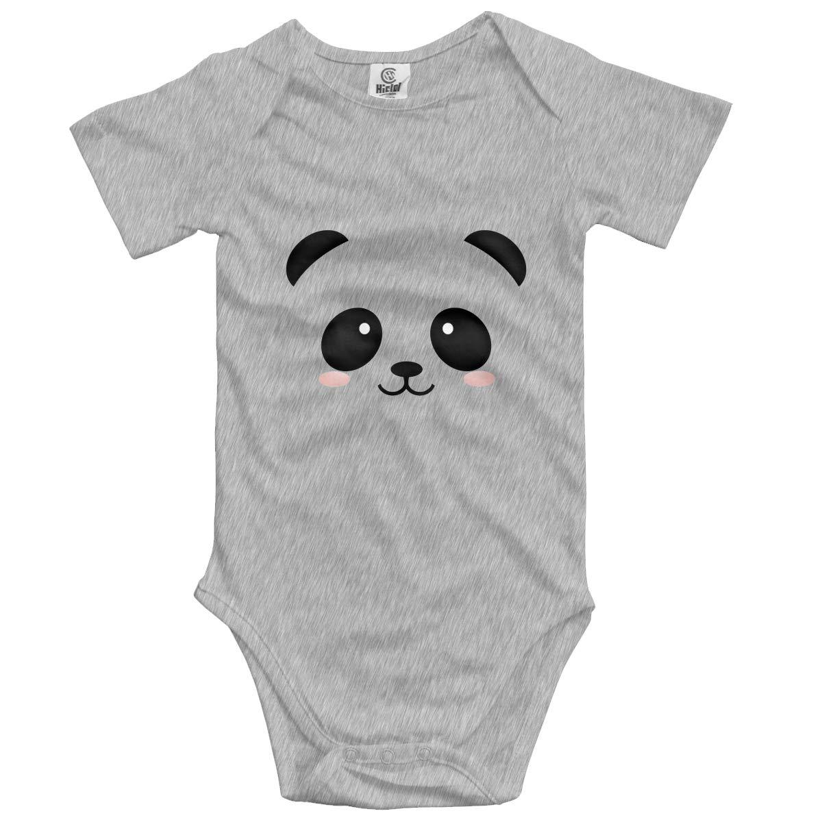 Nanagang Kawaii Panda Babies Short Sleeves Babyclothess Lovely Gray